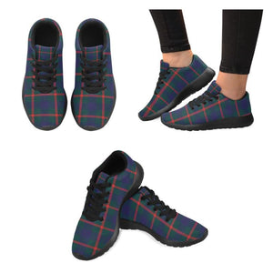 Agnew Modern Tartan Running Shoes Hj4 Us5 / Agnew Modern Black Mens Running Shoes (Model 020)