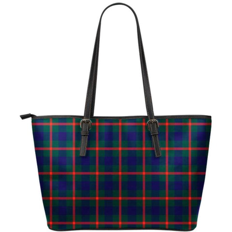 Agnew Modern Tartan Small Leather Tote Bag Nl25 Totes