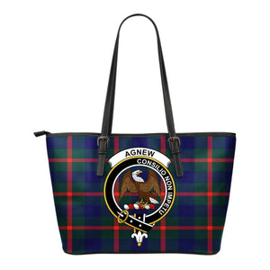 Agnew Tartan Clan Badge Small Leather Tote Bag C20 Totes