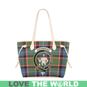 Aikenhead Tartan Handbag - Tartan Clan Badge Large Leather Tote Bag Nn5