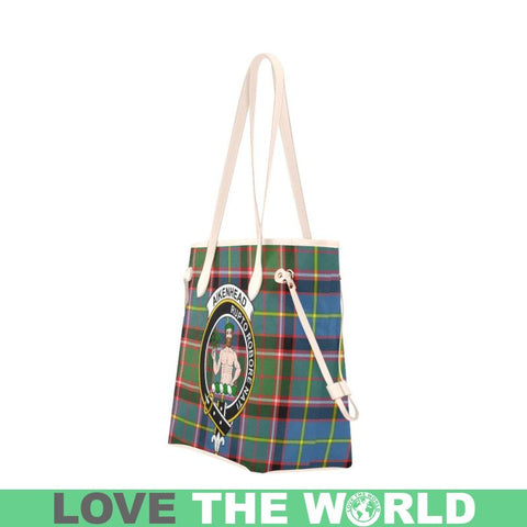 Aikenhead Tartan Clan Badge Clover Canvas Tote Bag C33 Bags