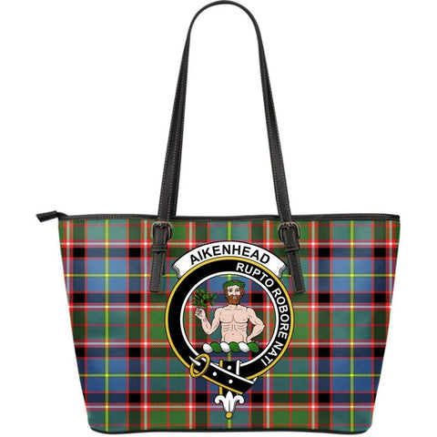 Aikenhead Tartan Clan Badge Large Leather Tote Bag W7 Totes