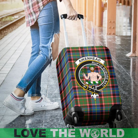 Image of Aikenhead Tartan Clan Badge Luggage Cover Hj4 Covers