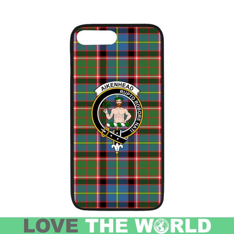 Aikenhead Tartan Clan Badge Phone Case Na2 One Size / Aikenhead Na2 1 Rubber Case For Iphone 7 Plus