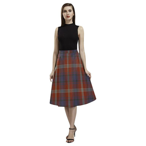 Image of Ainslie Tartan Aoede Crepe Skirt S12 Skirts