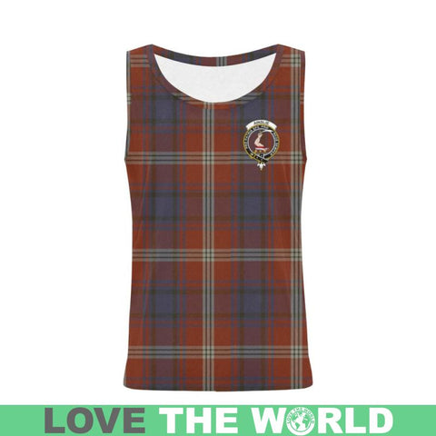 Image of Ainslie Tartan Clan Badge All Over Print Tank Top Nl25 Xs / Men Tops
