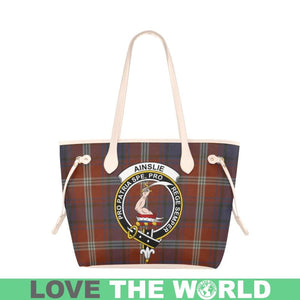 Ainslie Tartan Handbag - Tartan Clan Badge Large Leather Tote Bag Nn5