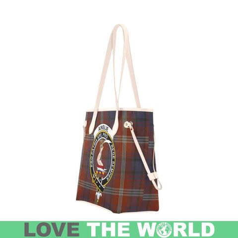 Ainslie Tartan Clan Badge Clover Canvas Tote Bag C33 Bags