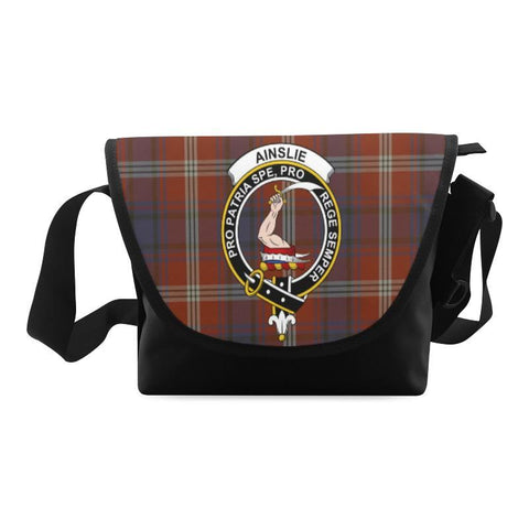AINSLIE TARTAN CLAN BADGE CROSSBODY BAG NN5