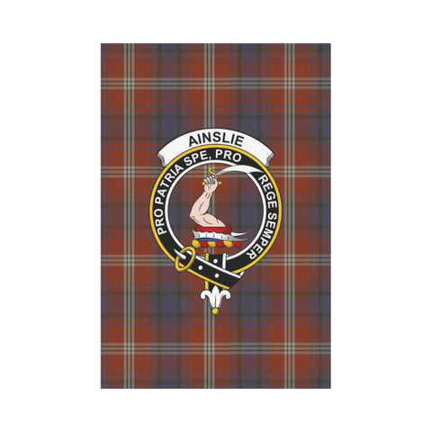 Ainslie Tartan Flag Clan Badge