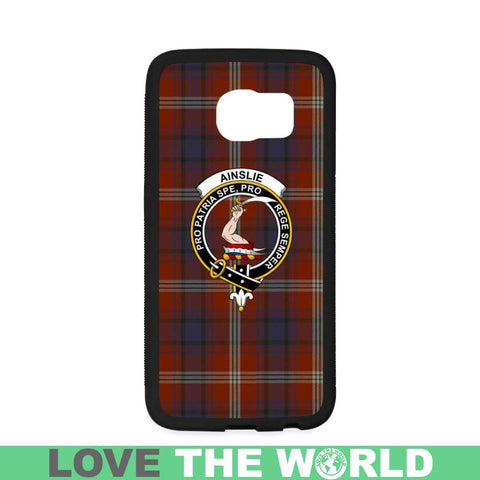 Image of Ainslie Tartan Clan Badge Phone Case Na2 One Size / Ainslie Na2 1 Rubber Case For Iphone 7 Plus