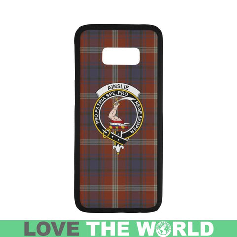 Ainslie Tartan Clan Badge Phone Case Na2 One Size / Ainslie Na2 1 Rubber Case For Iphone 7 Plus