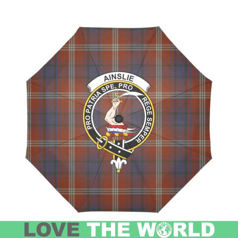 Ainslie TARTAN CLAN BADGE AUTO-FOLDABLE UMBRELLA R1