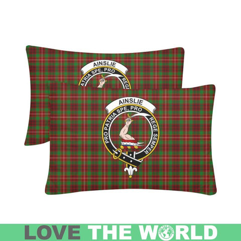 Image of Ainslie Tartan Clan Badge Rectangle Pillow Hj4 One Size / Ainslie Custom Zippered Pillow Cases 20X30