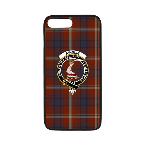 Image of Ainslie Tartan Clan Badge Rubber Phone Case Hj4 One Size / Rubber Case For Iphone 7 Plus (5.5 Inch)