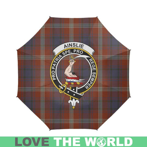 Ainslie Tartan Clan Badge Semi-Automatic Foldable Umbrella R1 Semi Umbrellas