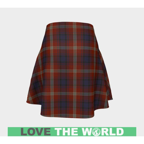 Tartan Skirt - Ainslie Women Flared Skirt A9 |Clothing| 1sttheworld