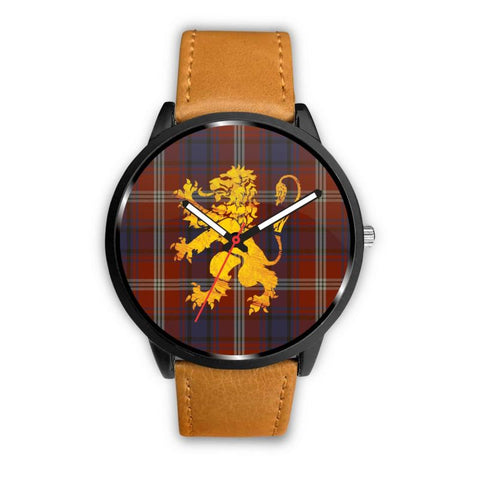 Ainslie Tartan Lion Leather/steel Watch P1 Mens 40Mm / Brown Leather-Steel Watches