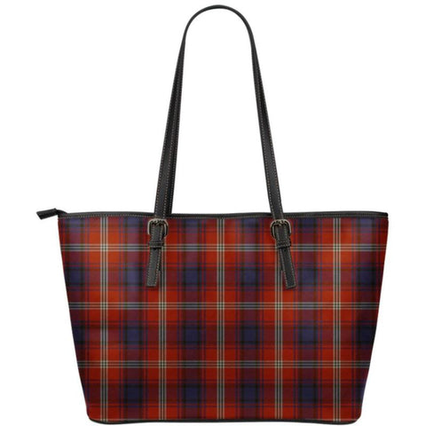 Ainslie Tartan Small Leather Tote Bag Nl25 Totes
