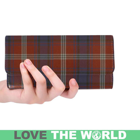 Image of Ainslie Tartan Trifold Wallet V4 One Size / Ainslie Red Womens Trifold Wallet Wallets