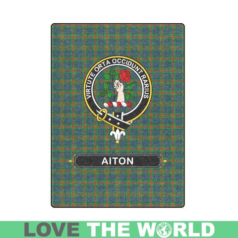 Image of Aiton Clan Tartan Blanket Dn1 One Size / 40X50 Blankets