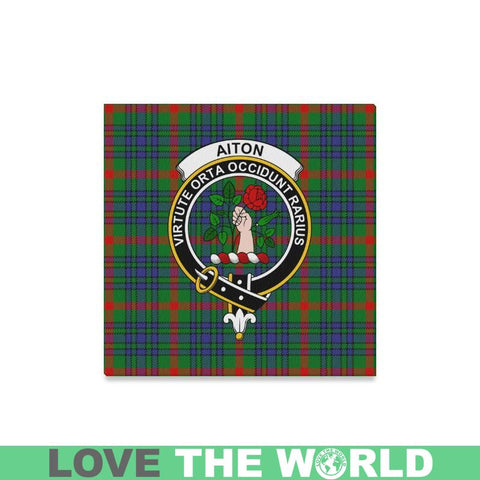 Tartan Canvas Print - Aiton Clan | Over 300 Scottish Clans and 500 Tartans