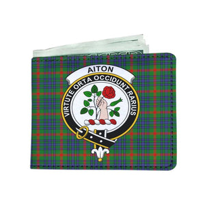 Aiton Clan Tartan Men Wallet Y3 Wallets