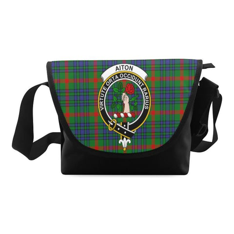 AITON TARTAN CLAN BADGE CROSSBODY BAG NN5