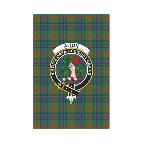 Aiton Tartan Flag Clan Badge