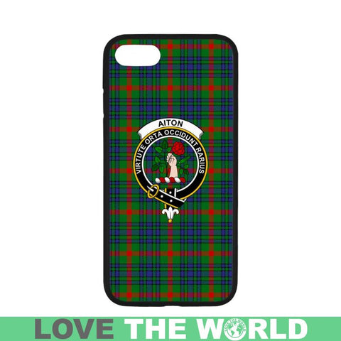Image of Aiton Tartan Clan Badge Phone Case Na2 Rubber Cases