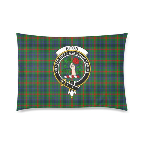 Image of Aiton Tartan Clan Badge Rectangle Pillow Hj4 One Size / Aiton Custom Zippered Pillow Cases