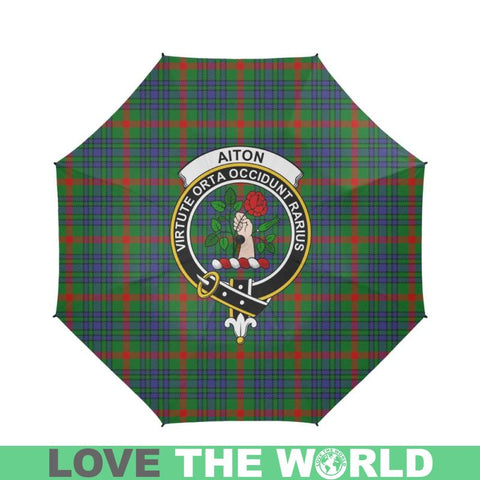Aiton Tartan Clan Badge Semi-Automatic Foldable Umbrella R1 Semi Umbrellas