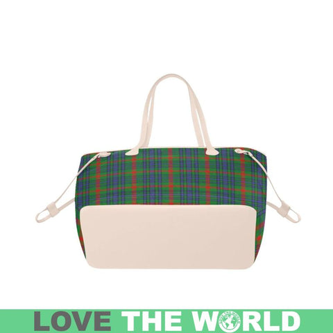 Image of Aiton Tartan Clover Canvas Tote Bag S1 Bags