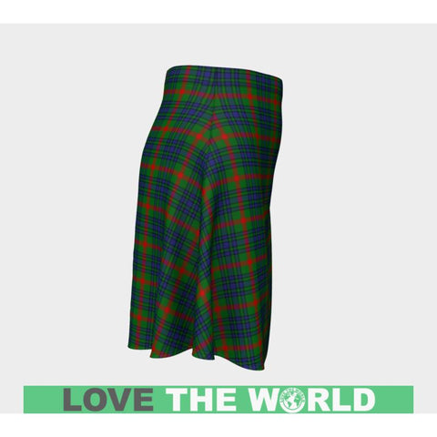 Tartan Skirt - Aiton Women Flared Skirt A9 |Clothing| 1sttheworld