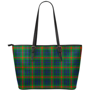 Aiton Tartan Large Leather Tote Bag Nl25 Totes