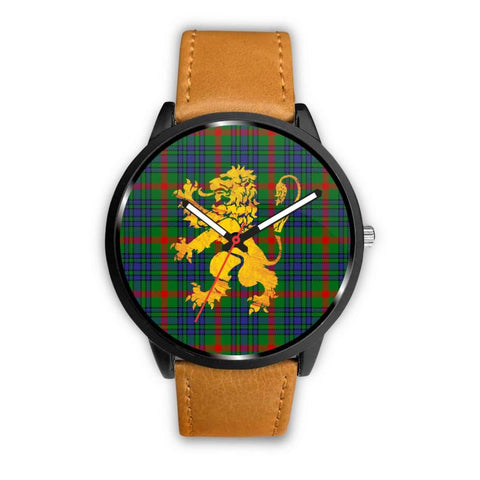 Aiton Tartan Lion Leather/steel Watch P1 Mens 40Mm / Brown Leather-Steel Watches