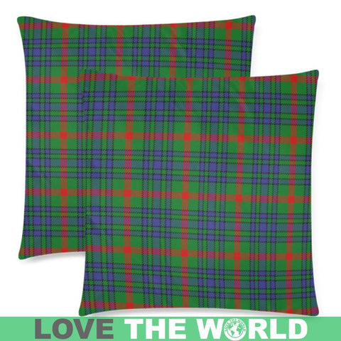Aiton Tartan Pillow Case Hj4 One Size / Aiton Custom Zippered Pillow Case 18X18(Twin Sides) Zippered