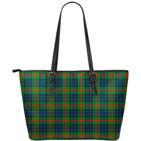 Aiton Tartan Small Leather Tote Bag Nl25 Totes