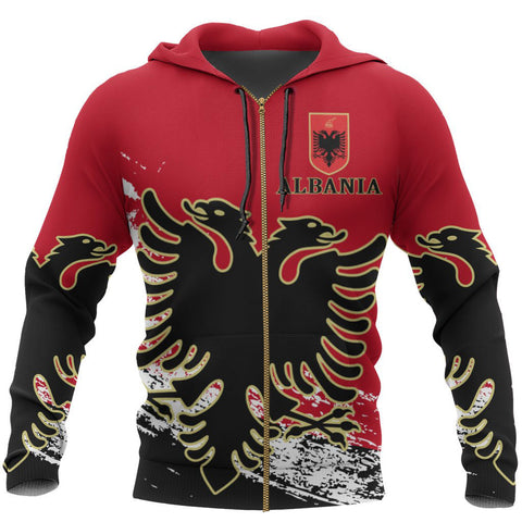 Image of Albania Special Zipper Hoodie | Women & Men | High Quality Printing