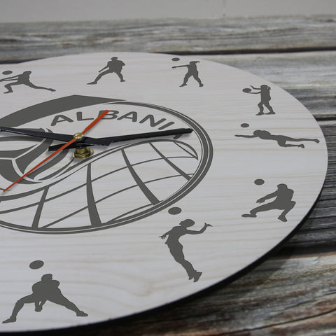 Image of Albania Volleyball Wooden Wall Clock J2