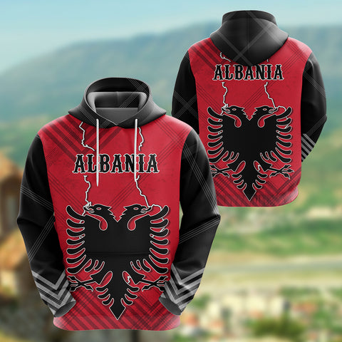 Albania Hoodie Special Map K5