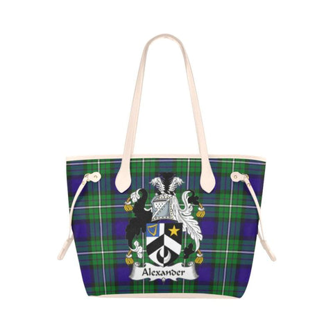 Alexander Tartan Clan Badge Clover Canvas Tote Bag C33 Bags