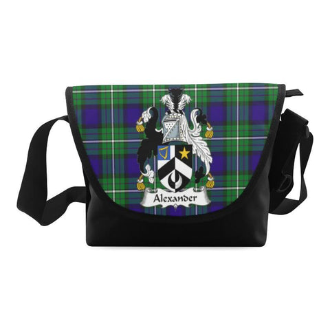 ALEXANDER TARTAN CLAN BADGE CROSSBODY BAG NN5