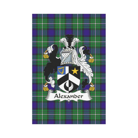 Alexander Tartan Flag Clan Badge