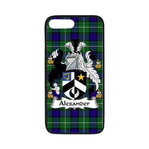 Alexander Tartan Clan Badge Rubber Phone Case Hj4 One Size / Rubber Case For Iphone 7 Plus (5.5