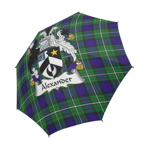 Alexander Tartan Clan Badge Semi-Automatic Foldable Umbrella R1 Semi Umbrellas