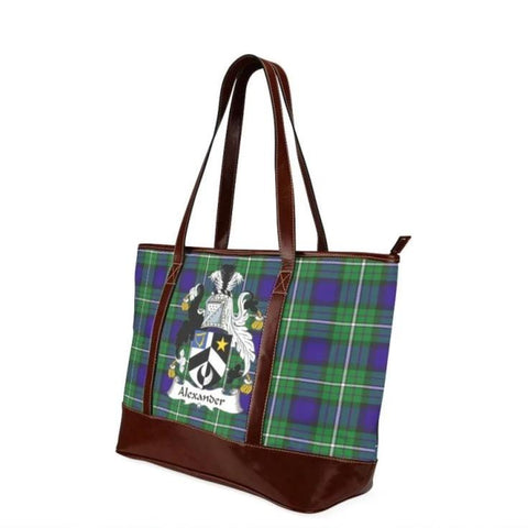 Alexander Tartan Clan Badge Tote Handbag Hj4 Handbags