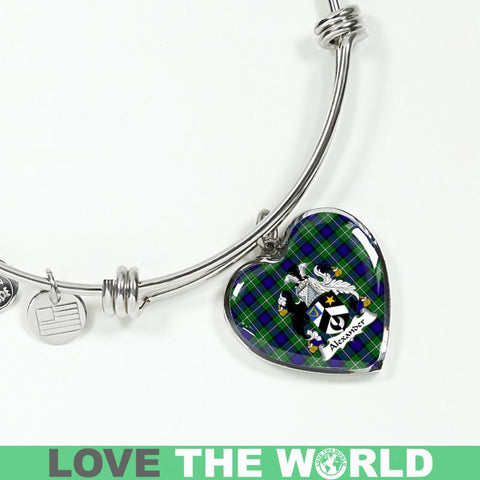 Alexander Tartan Silver Bangle - Sd1 Luxury Bangle (Silver) Jewelries