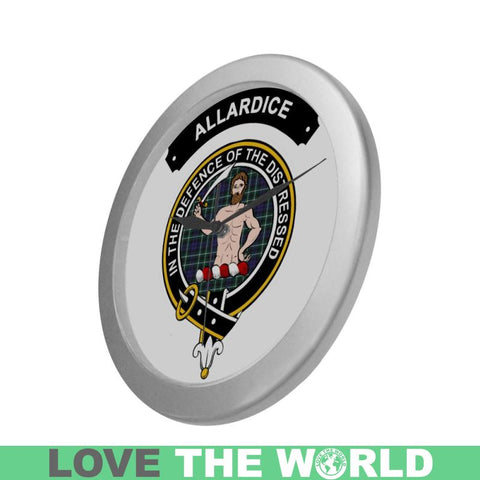 Allardice Clan Tartan Wall Clock  - Love The World