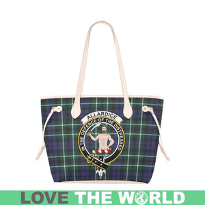 Allardice Tartan Handbag - Tartan Clan Badge Large Leather Tote Bag Nn5
